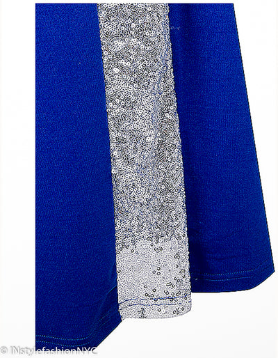 Women's Blue And Silver Strapless Mermaid Dress, INstyle fashion