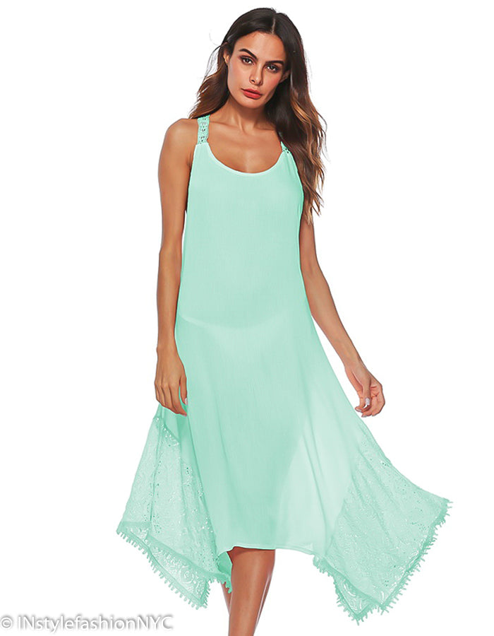 da0c8827819f3 Women's Mint Tie Back Cover Up, INstyle fashion