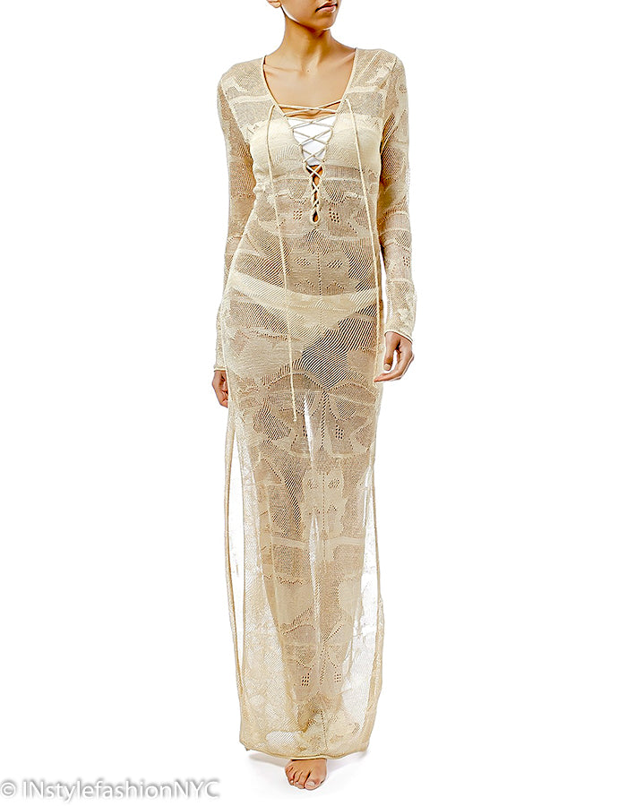 dedf2ea018fc9 Women's White Sheer Long Cover Up, INstyle fashion