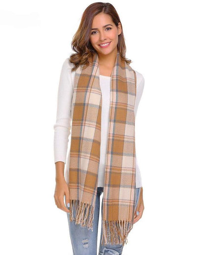 Women's Soft Blanket Patchwork Scarf, INstyle fashion