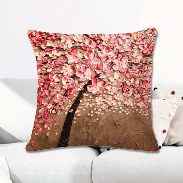 INstyle Floral Blossom Tree Pillow Cases, Home Decor