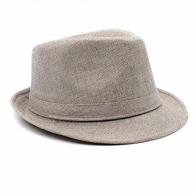 Men's Large Brim Fedora Linen Hat, INstyle fashion