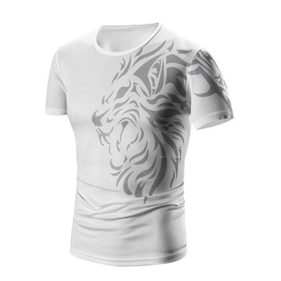 Men's Abstract Lion Quick Drying T Shirt, INstyle fashion