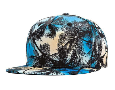 Women's Printed Coconut Tree Palm Beach Cap, INstyle fashion