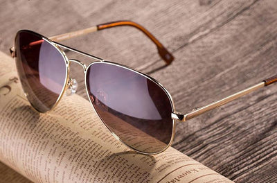 Sunglasses, Men's aviator style, copper frame, INstyle fashion