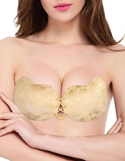 Women's Self Adhesive Push-up Lace Up Bra, INstyle fashion