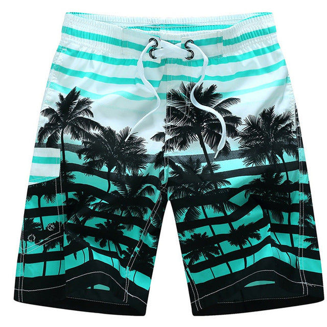Men's Blue and White Tropical Swimwear, INstyle fashion