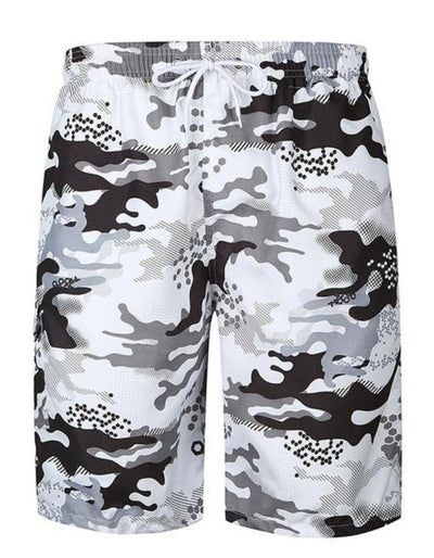 Men's Black and Gray Board Shorts, INstyle fashion