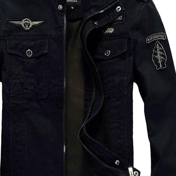 Men's Black Air Force Fashion Jacket, INstyle fashion