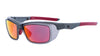 OZ Gloss Graphite Frame with Red Fire Mirror Plano Lenses