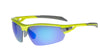 PHO Fluro Yellow Frame - Blue mirror lens