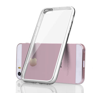 Transparent Ultra-Thin Soft Back Silicone Case For iPhone 5, iPhone 5S and iPhone SE.