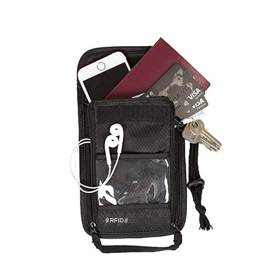 BAGSMART RFID Passport Holder, ID & Credit Cards &Tickets Neck Pouch
