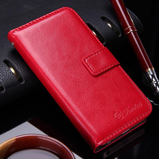 Retro PU Leather Wallet Flip Case for Apple iPhone 5S and 5 SE