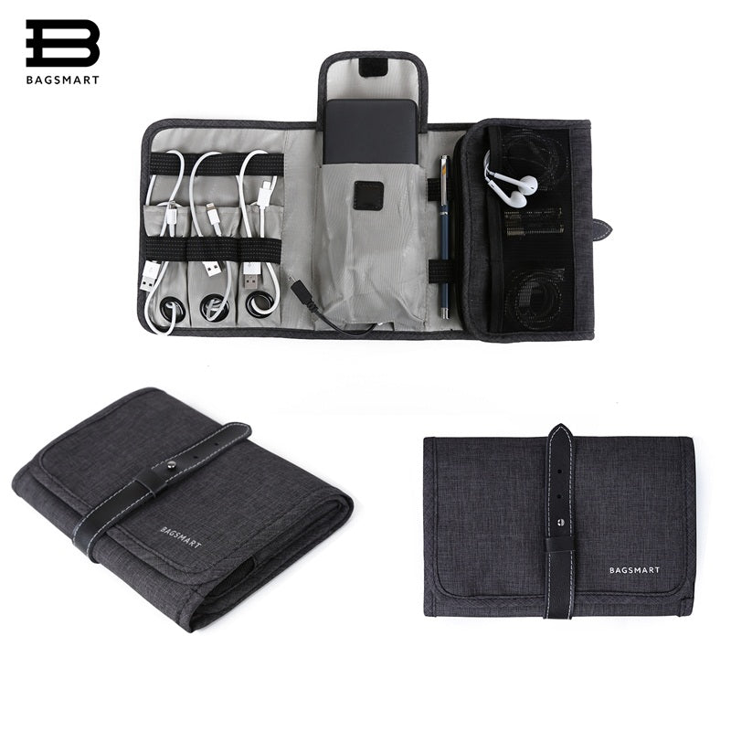 BAGSMART Portable Digital Accessories Gadget & Devices Organiser, Perfect for USB Cables, Chargers, Earphones and SD Cards.