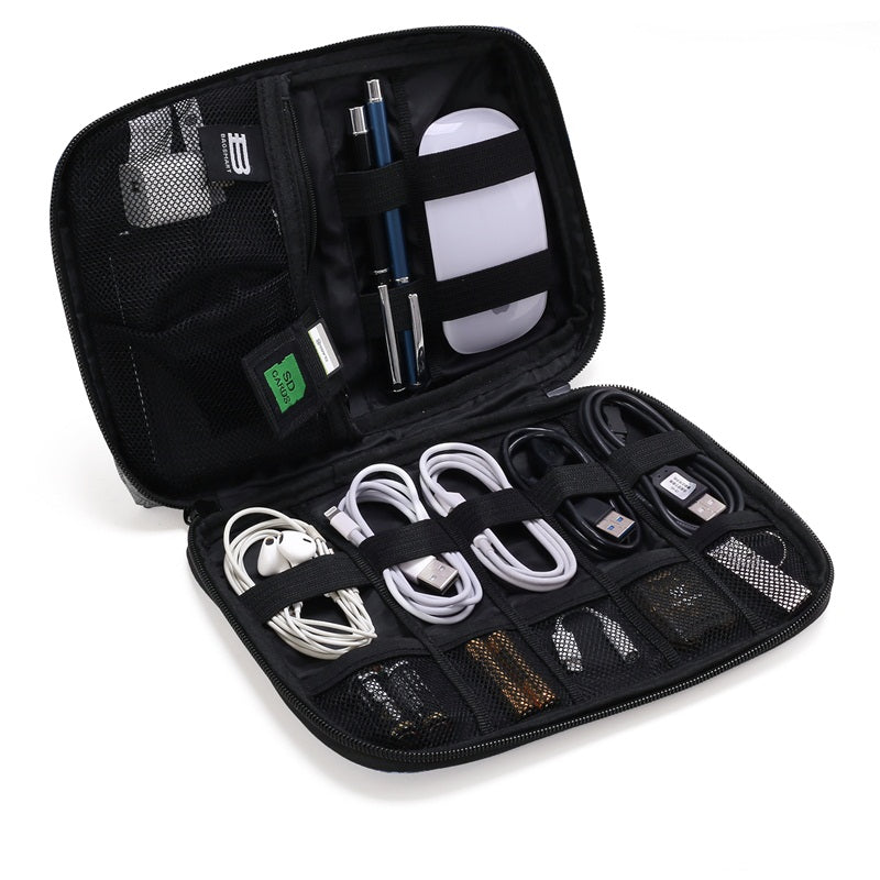 BAGSMART Electronic Accessories Organiser for Earphone, USB & SD Cards, Chargers, Data Cable and More