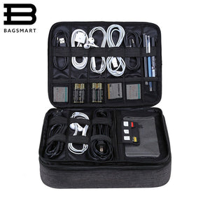 BAGSMART Travel Accessories Bag for Cables, Chargers, USB and SD Cards, Earphones, Flash Drives and More
