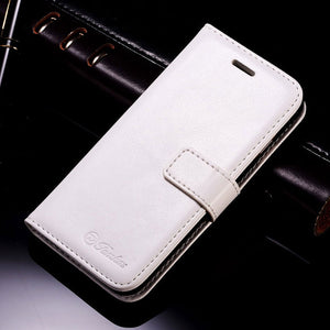Flip Style PU Leather Wallet Case For iPhone with Card Holder and Kickstand.