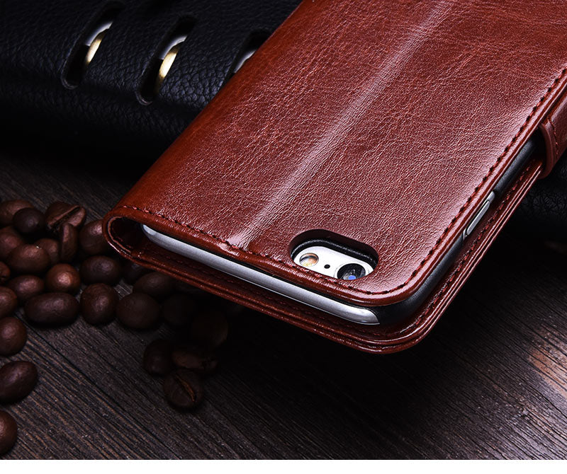 PU Leather Flip Style Wallet Case For iPhone 8, iPhone8 Plus, iPhone 7 and iPhone 7 Plus