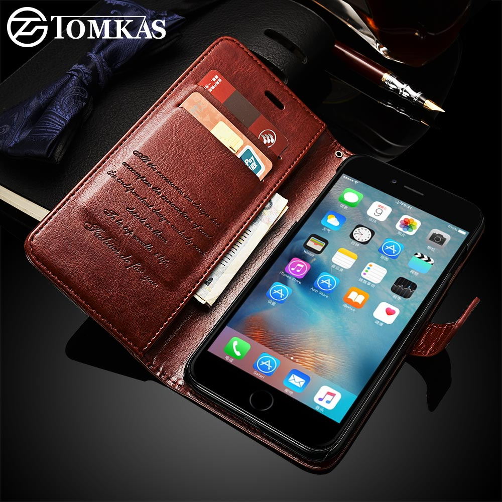 Leather Wallet Case with Card Slot For iPhone 6 and iPhone 6S Plus.