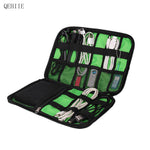 High Grade Nylon Waterproof Travel Electronics Accessories Case for Chargers & Cables