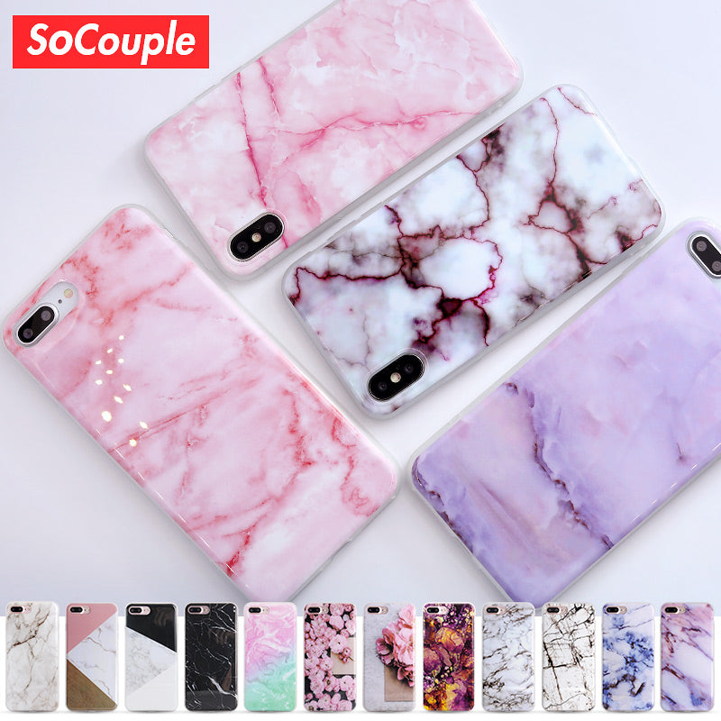 Granite, Marble & Stone Silicone Phone Case For Multiple iPhone Models