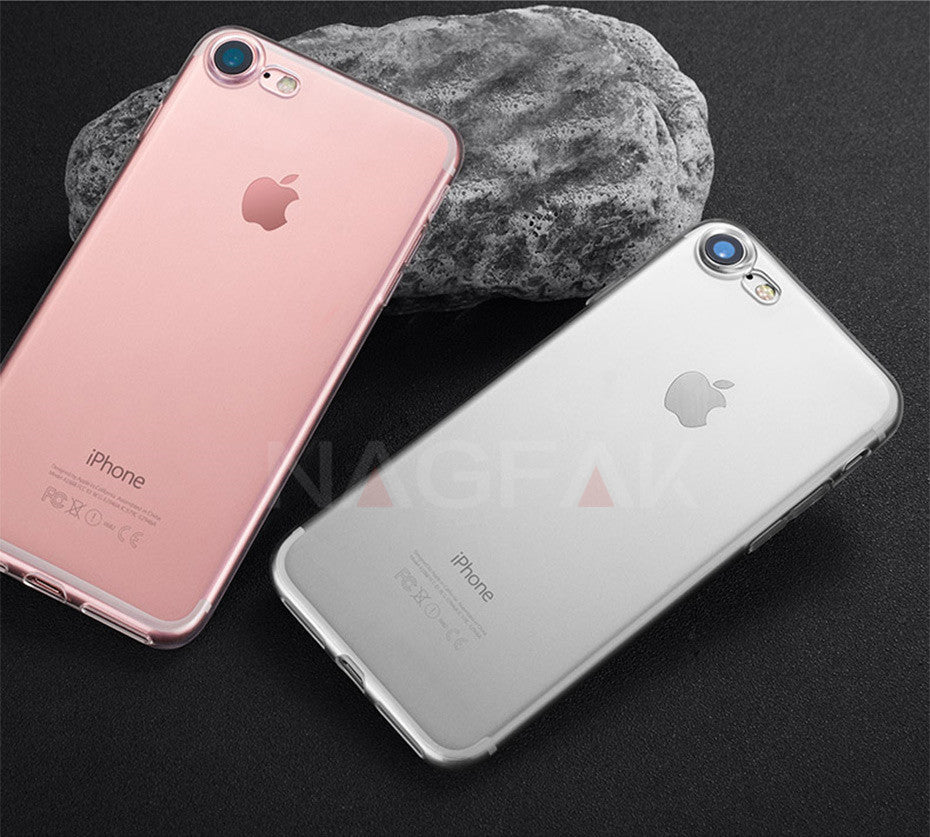 Ultra Thin Transparent Case For iPhone 6, 7 & 8, iPhone 6 Plus, iPhone 7 Plus and iPhone 8 Plus