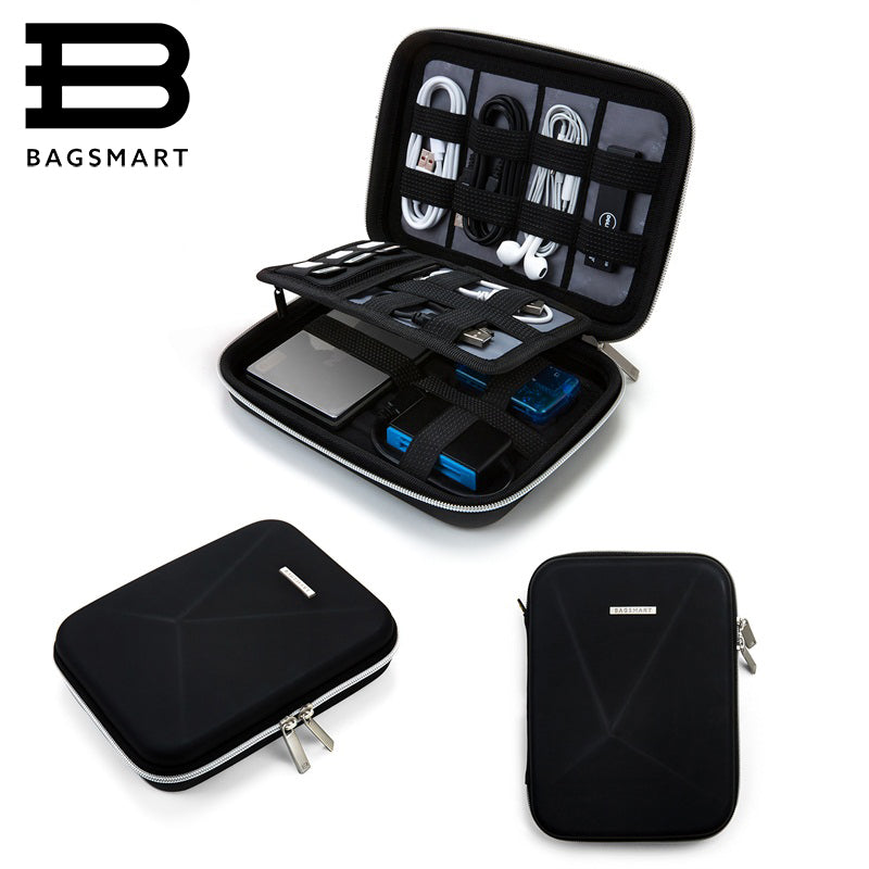 BAGSMART Hard Case Shockproof Travel Electronic Organiser Bag
