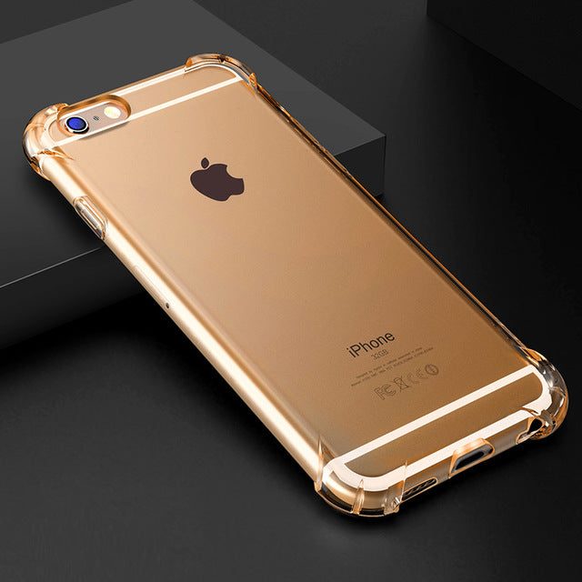 Super Shockproof Clear Soft Case for Multiple iPhone Variants