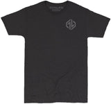 GYM LIFE™ - HEXICON - BLACK - 52/48 BLEND PERFORMANCE T-SHIRT