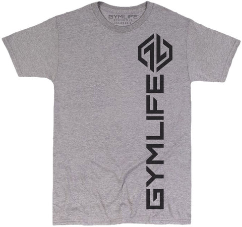 GYM LIFE™ - DEADLIFT - ATHLETIC HEATHER GREY - 52/48 BLEND PERFORMANCE T-SHIRT