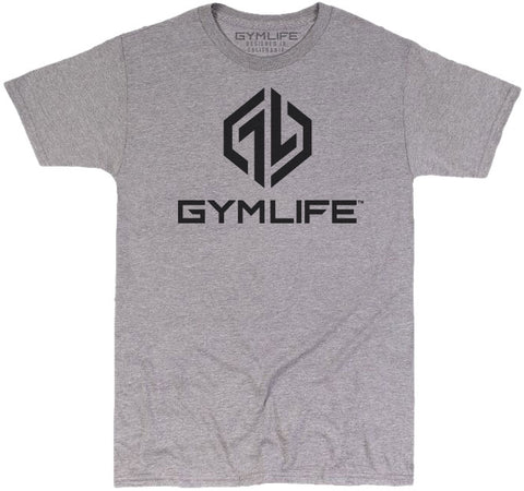 GYM LIFE™ - OCTANE - ATHLETIC HEATHER GREY - 52/48 BLEND PERFORMANCE T-SHIRT