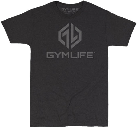 GYM LIFE™ - OCTANE - BLACK - 52/48 BLEND PERFORMANCE T-SHIRT