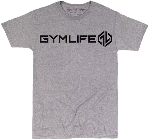 GYM LIFE™ - SPEED UP - ATHLETIC HEATHER - 52/48 BLEND PERFORMANCE T-SHIRT