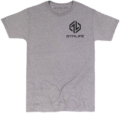 GYM LIFE™ - POWER UP - ATHLETIC HEATHER - 52/48 BLEND PERFORMANCE T-SHIRT