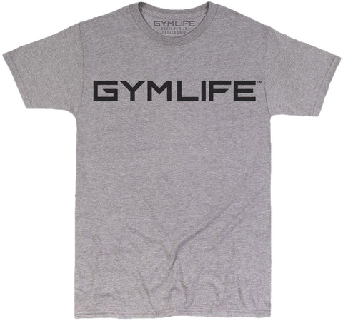 GYM LIFE™ - FUTURE - ATHLETIC HEATHER GREY - 52/48 BLEND PERFORMANCE T-SHIRT