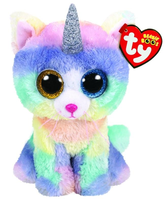BEANIE BOOS REGULAR HEATHER - CAT WITH HORN