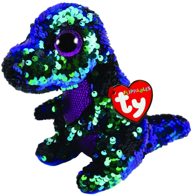 FLIPPABLES REGULAR CRUNCH - GREEN & PURPLE DINOSAUR