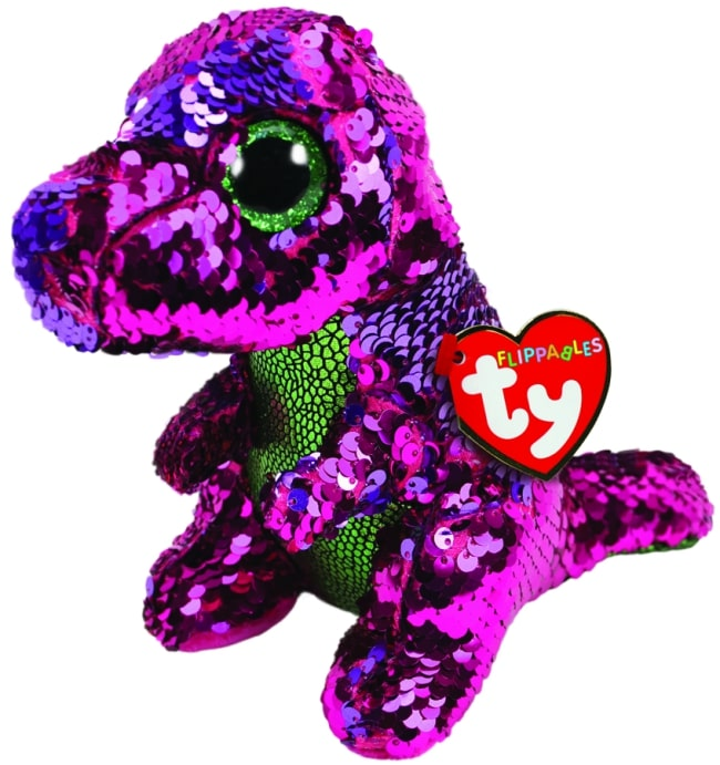 FLIPPABLES REGULAR STOMPY - PINK & GREEN DINOSAUR