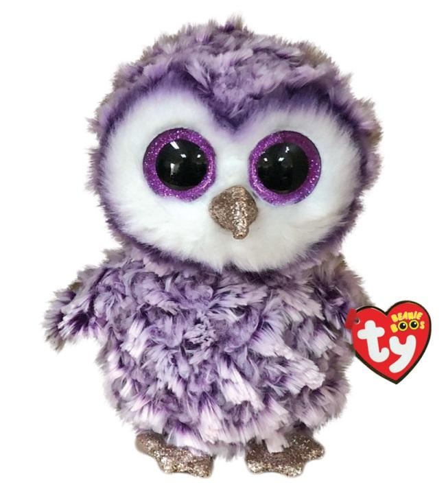 BEANIE BOOS REGULAR MOONLIGHT - PURPLE OWL