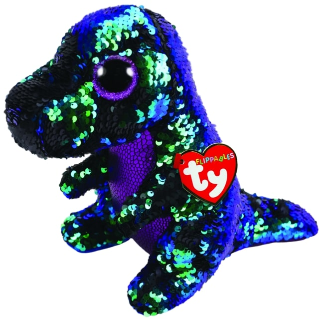 FLIPPABLES MEDIUM CRUNCH - GREEN & PURPLE DINOSAUR