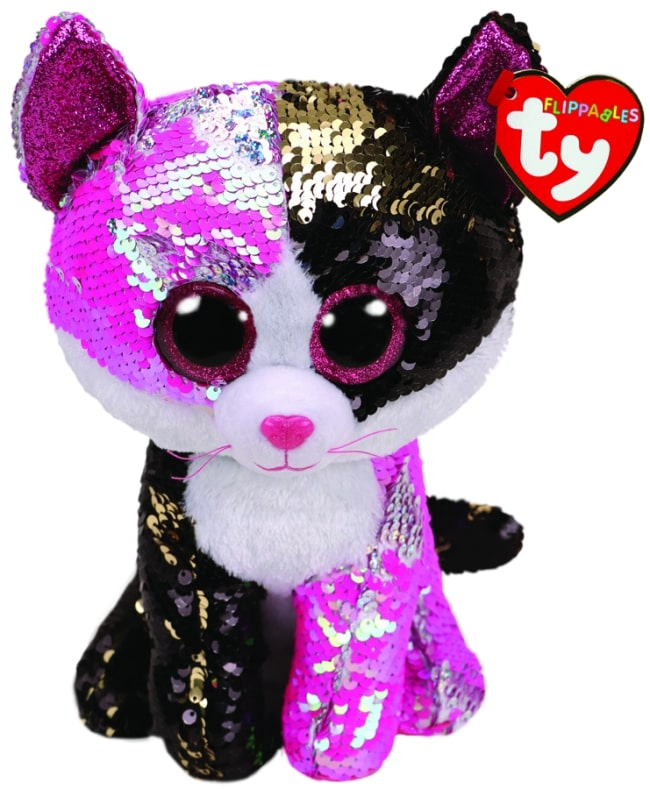 FLIPPABLES MEDIUM MALIBU - PINK & BLACK CAT