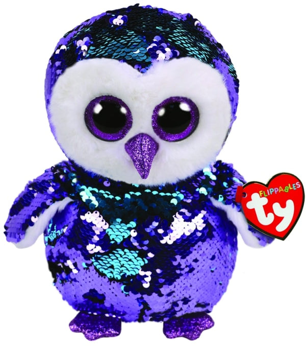 FLIPPABLES MEDIUM MOONLIGHT - PURPLE OWL