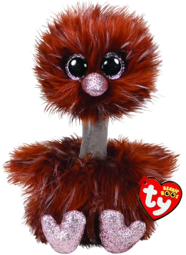BEANIE BOOS MEDIUM ORSON - BROWN OSTRICH