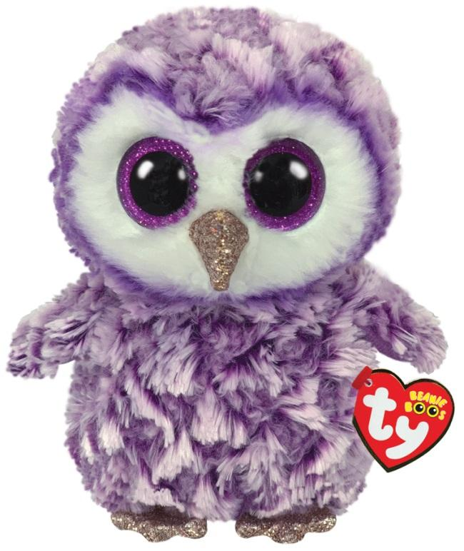 BEANIE BOOS MEDIUM MOONLIGHT - PURPLE OWL