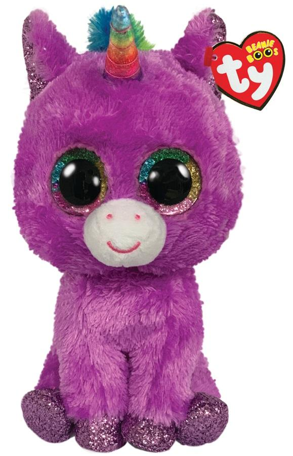 BEANIE BOOS MEDIUM ROSETTE - PURPLE UNICORN