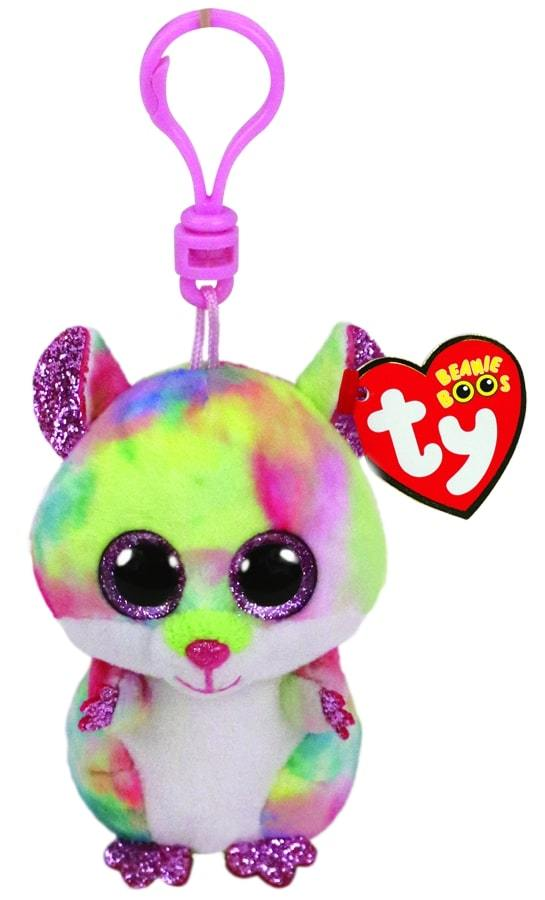 BEANIE BOOS CLIPS RODNEY - MULTICOLOURED HAMPSTER