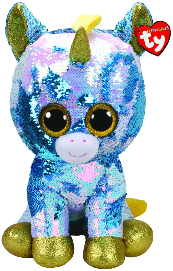 FLIPPABLES LARGE DAZZLE - BLUE UNICORN
