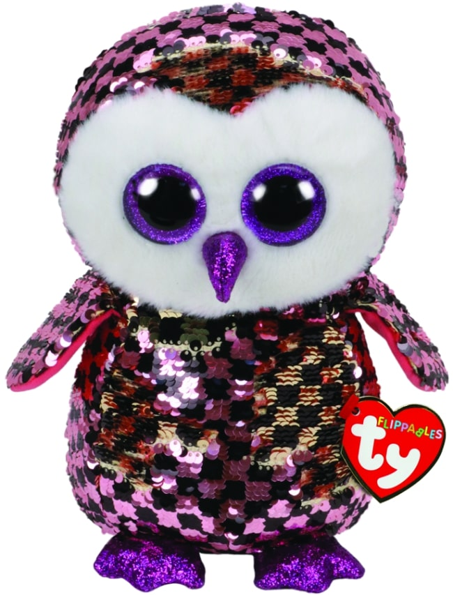FLIPPABLES MEDIUM CHECKS - PINK/GOLD/BLK OWL