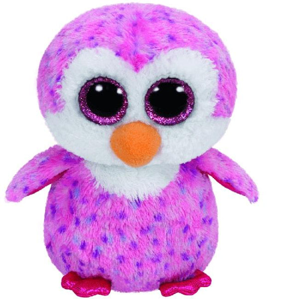 BEANIE BOOS MEDIUM GLIDER - PINK PENGUIN